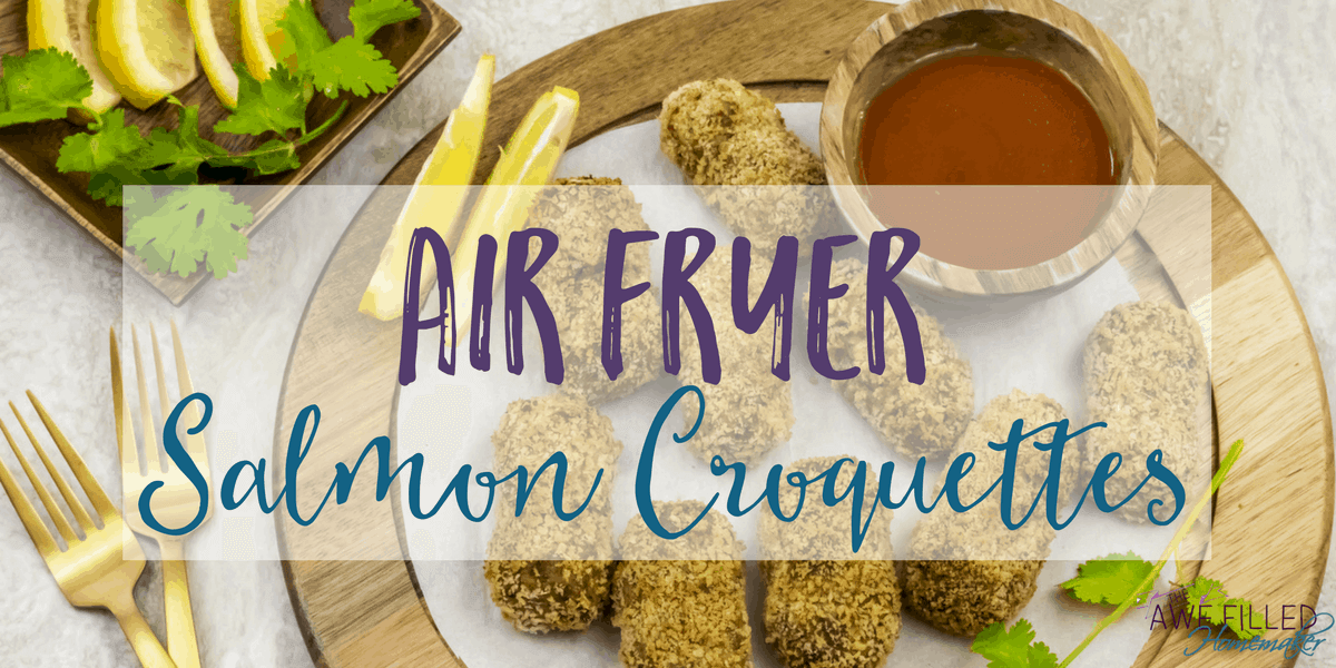 Delicious and healthy air fryer salmon croquettes