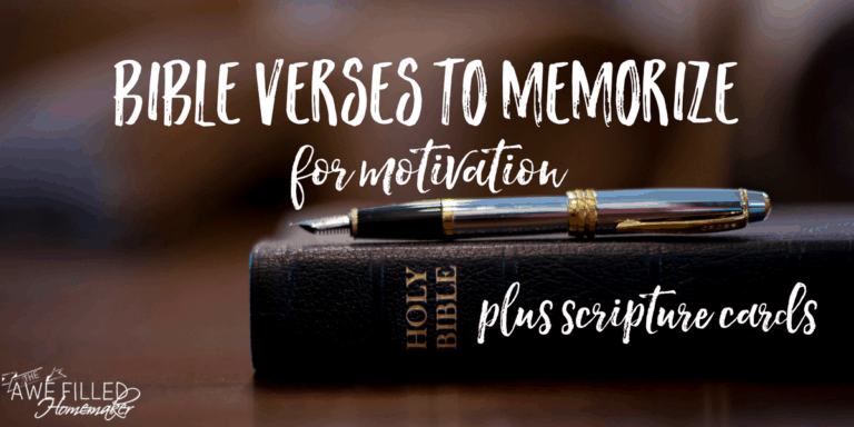 Bible Verses to Memorize for Motivation