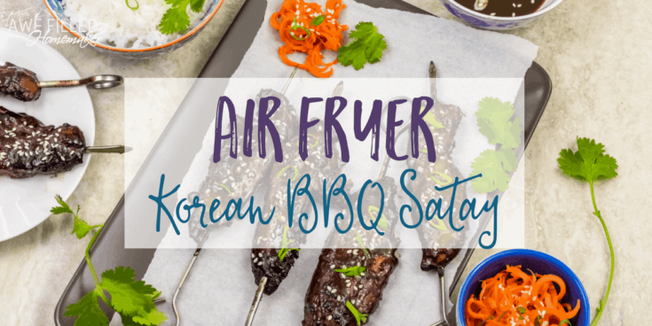 Air Fryer Korean BBQ Satay