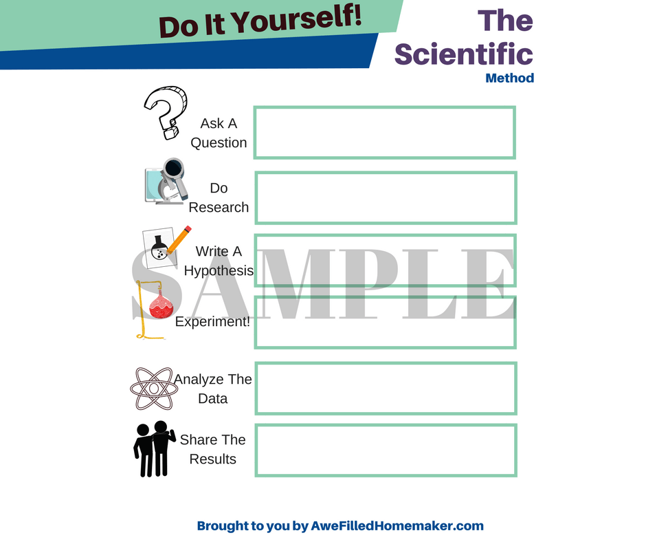 Scientific Method Worksheets For 3rd Grade : The scientific method worksheet awe filled homemaker