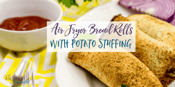 Air Fryer Bread Rolls With Potato Stuffing