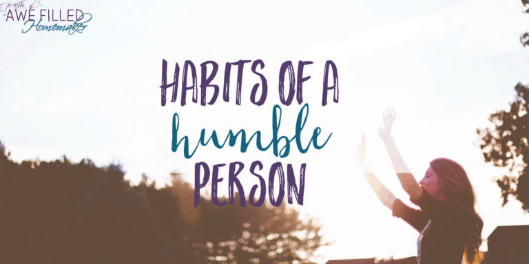 Habits of a Humble Person