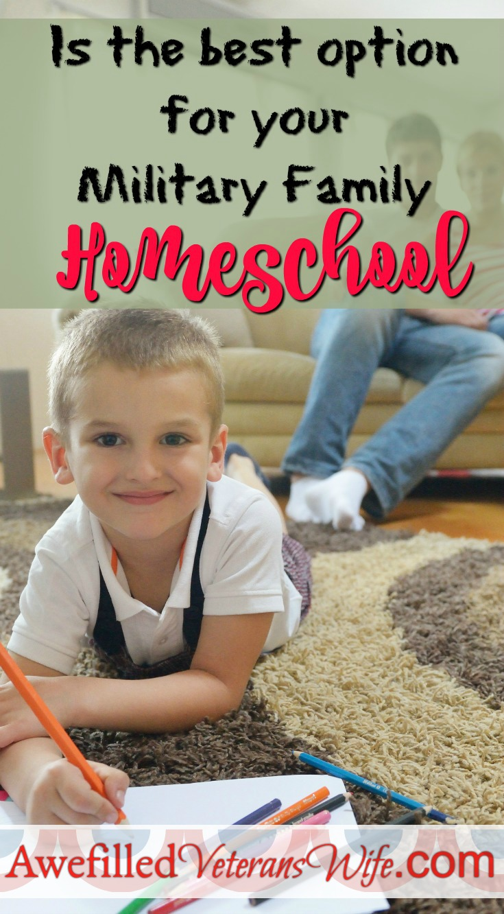 Should your military family homeschool? Homeschool is the best option for many military families. It might be the best option you've never considered.