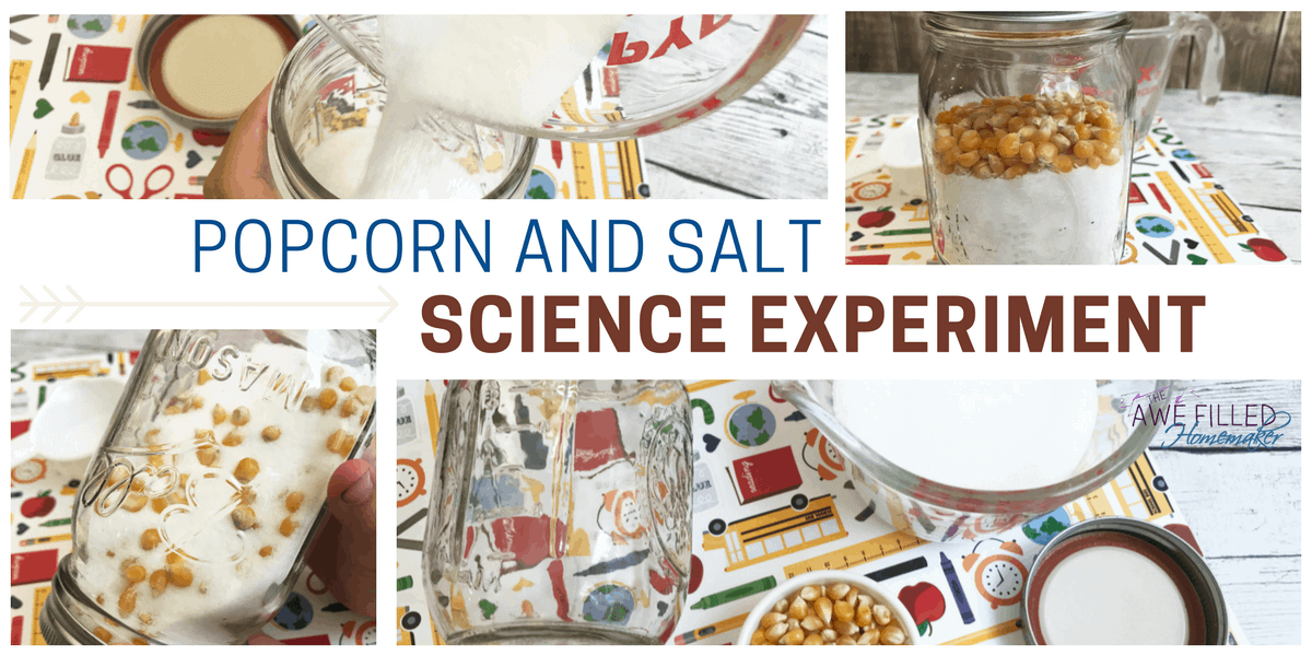 Popcorn and salt science experiment awe filled homemaker forumfinder Choice Image