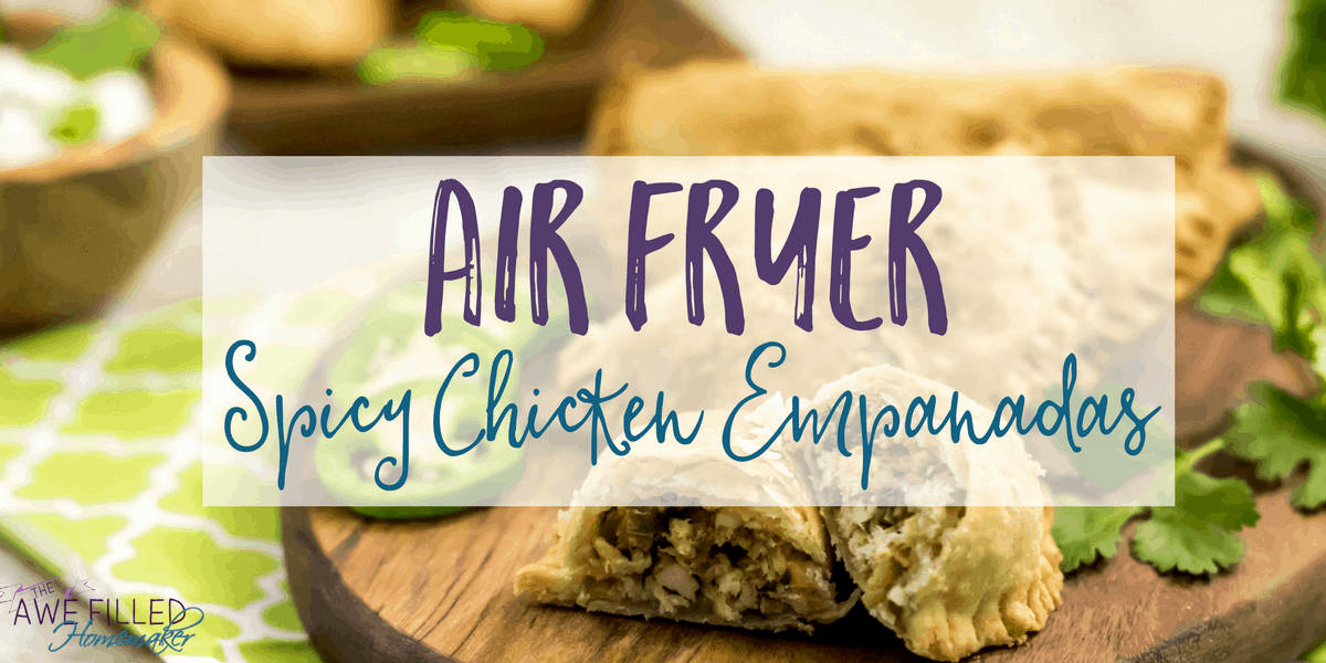 try something new with air fryer spicy chicken empanadas