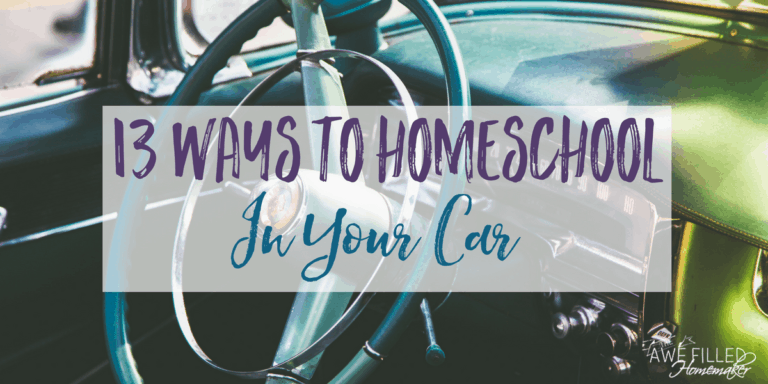 13 Ways to Homeschool in Your Car