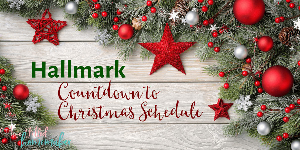 Hallmark Countdown to Christmas Schedule