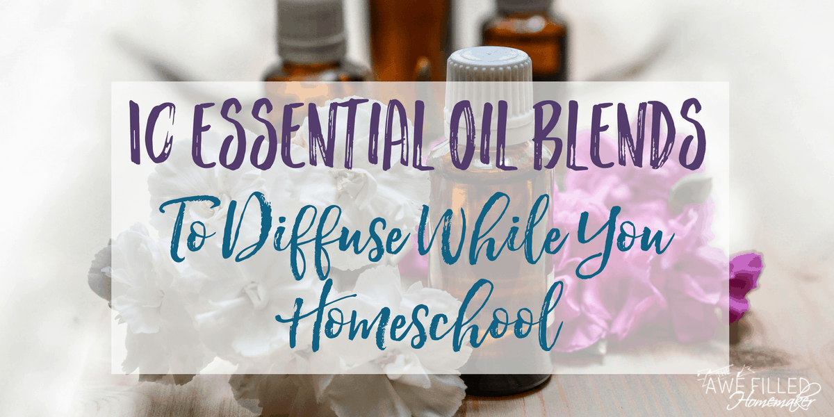 10 Essential Oil Blends to Diffuse While You Homeschool