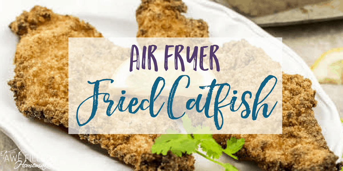 Air Fryer fried catfish for a healthy alternative