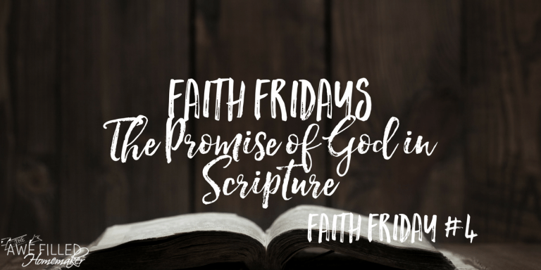 Promises of God In Scripture + Faith Friday Link Up