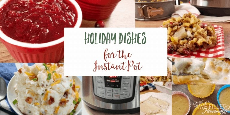 Holiday Dishes for the Instant Pot
