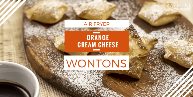 Air Fryer Orange Cream Cheese Wontons