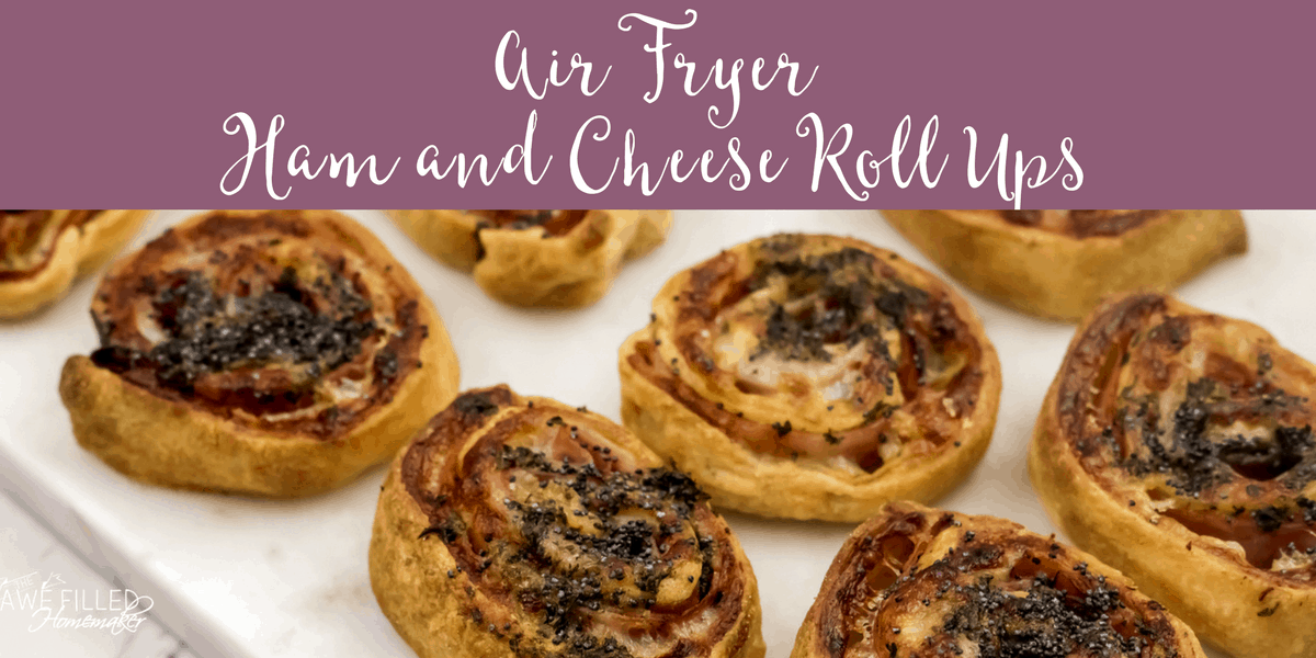 Air Fryer ham and cheese roll ups are super easy and tasty