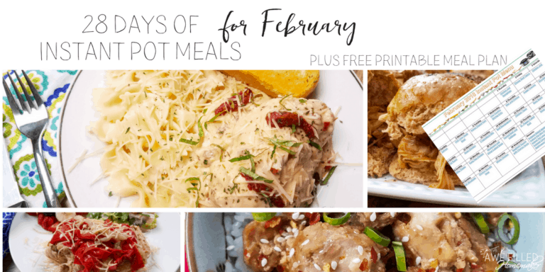 Instant Pot Meal Plans (February)
