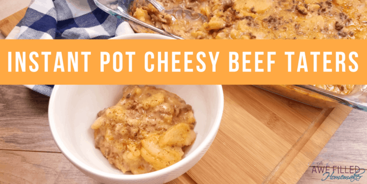 Instant Pot Cheesy Beef Taters