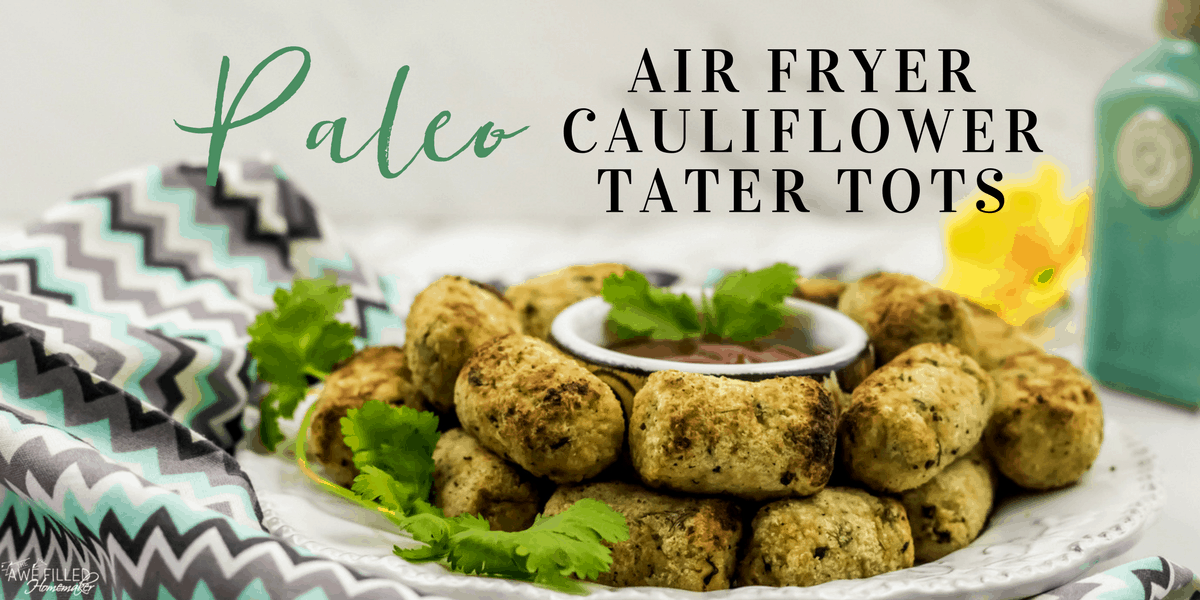 Air Fryer Paleo Cauliflower Tater Tots