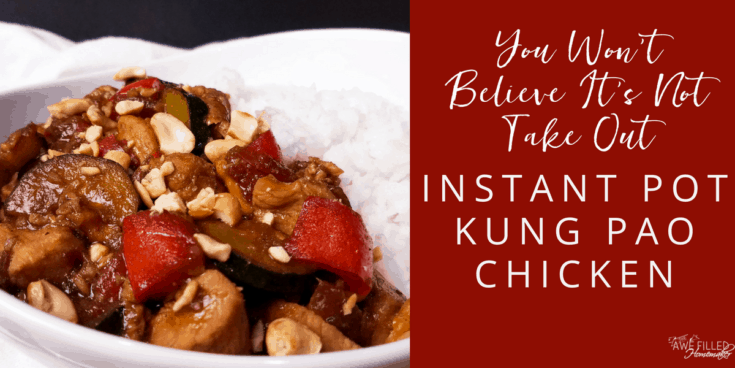 You won't believe it's not take out: Instant Pot Kung Pao Chicken
