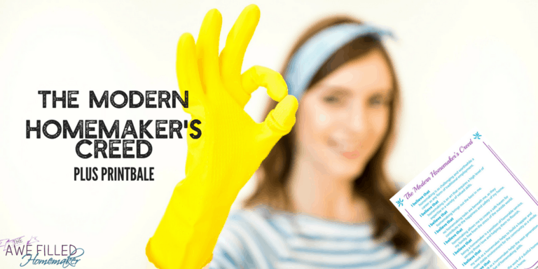 The Modern Homemakers Creed