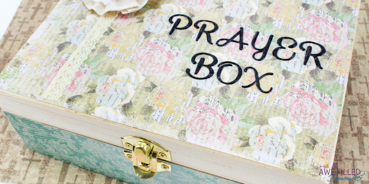 Your diy prayer box is now complete!