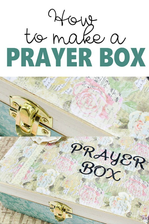 Ever wondered how to make a prayer box? Here are my step by step instructions on how to effectively and easily make one.