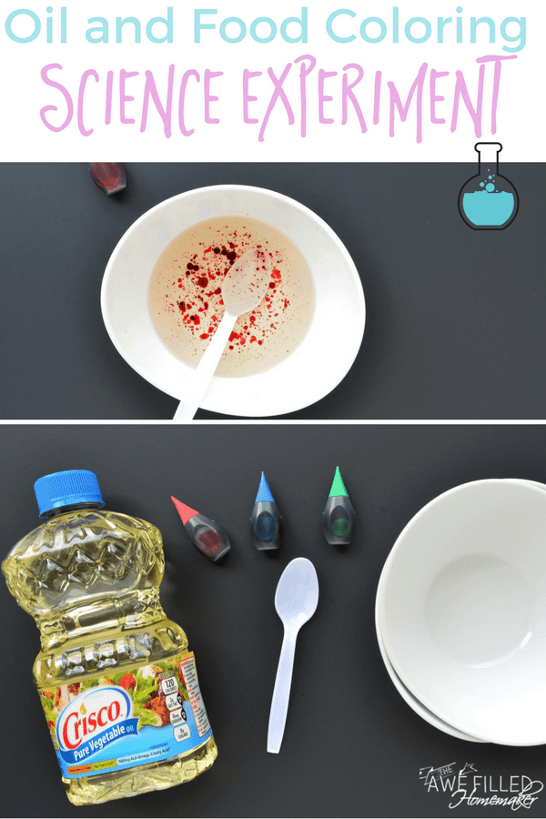 Oil and Food Coloring Science Experiment