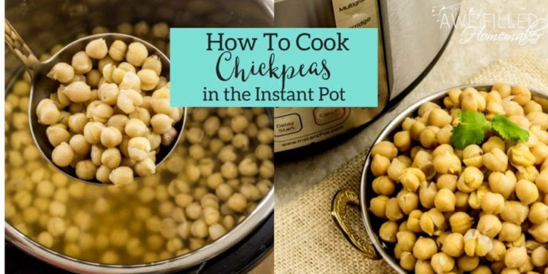 How To Cook Chickpeas In the Instant Pot