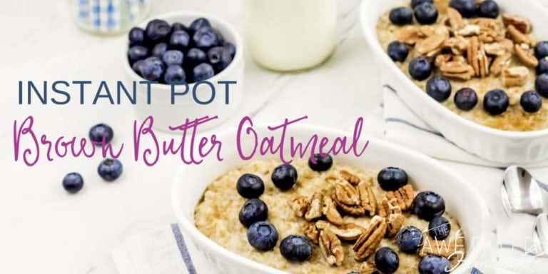 Instant Pot Brown Butter Oatmeal