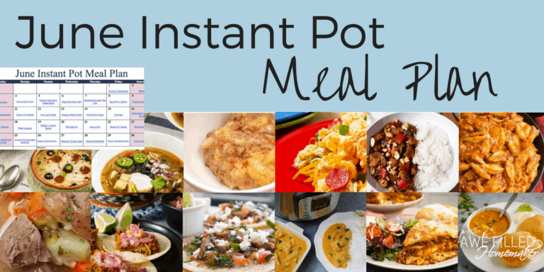 June Instant Pot Meal Plan