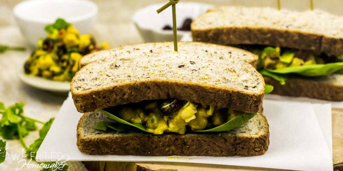 Instant Pot Curried Chickpea Salad Sandwich