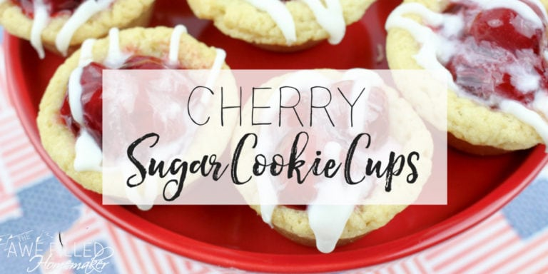 Cherry Sugar Cookie Cups