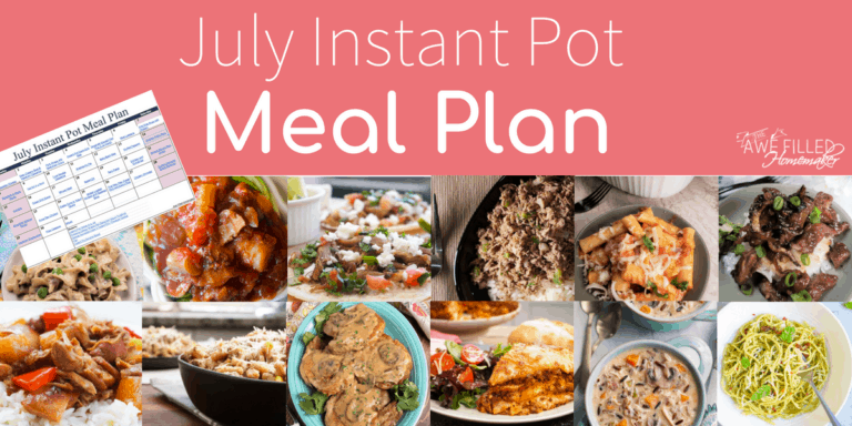 July Instant Pot Meal Plan