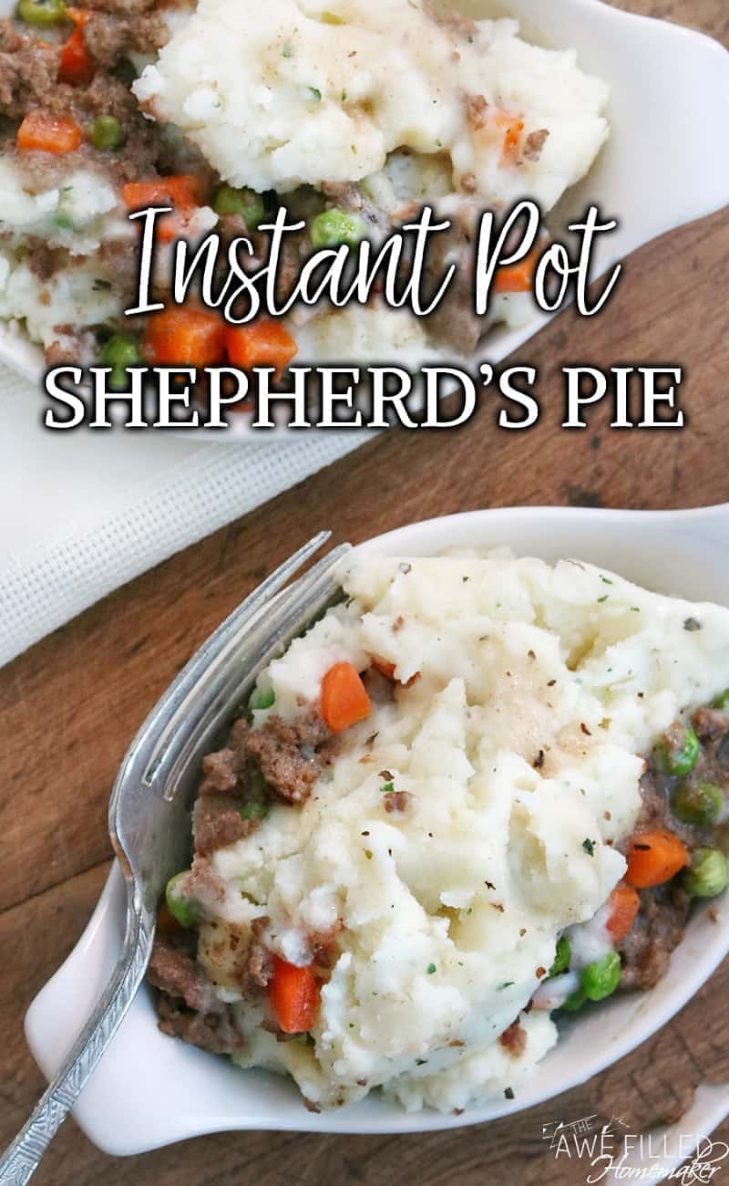 Delicious and easy to make Instant pot shepherd's pie comfort food