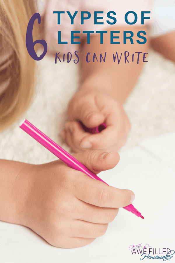 6 types of letters kids can write