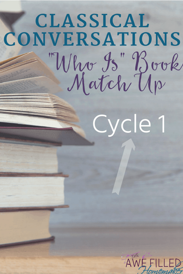 Cycle 1 Classical Conversations Who Is Book Match Up