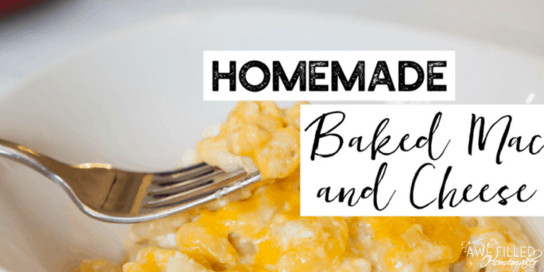 Homemade Baked Macaroni and Cheese