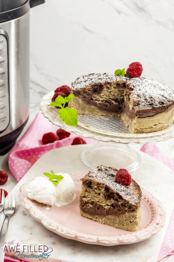 The Best Instant Pot Raspberry Swirl Cake recipe you'll ever find!