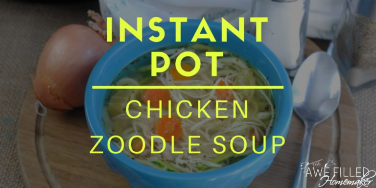 Instant Pot Chicken Zoodle Soup (KETO!)