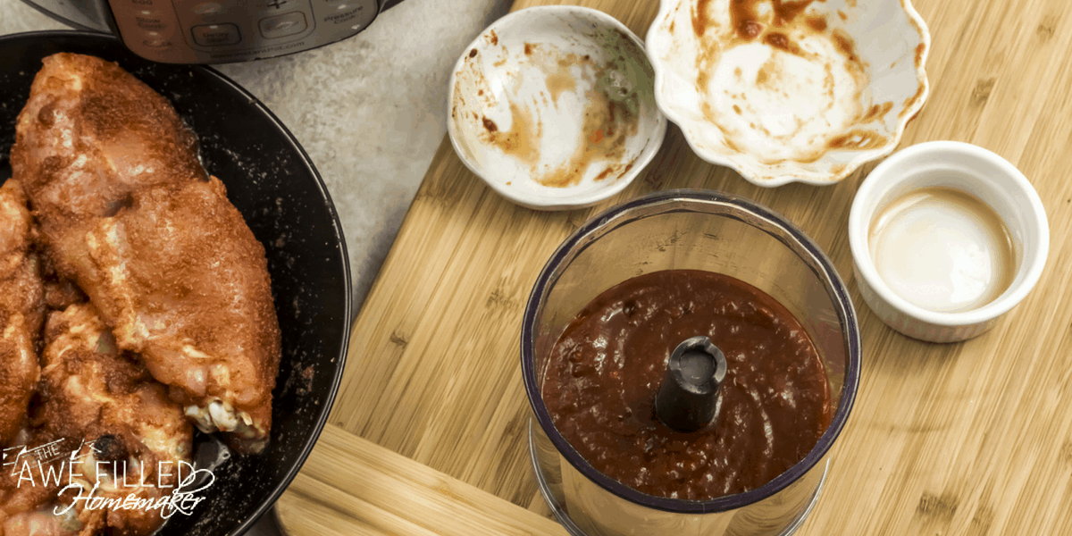 Instant Pot Chipotle Maple Chicken Thighs