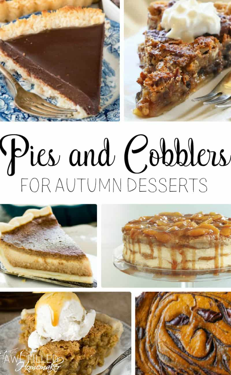 Pies and Cobblers for Autumn Desserts