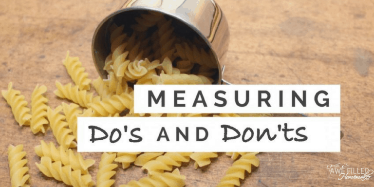 Baking Measuring Do's and Don'ts