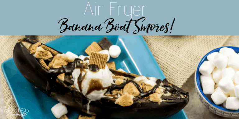 Air Fryer Banana Boat S'mores