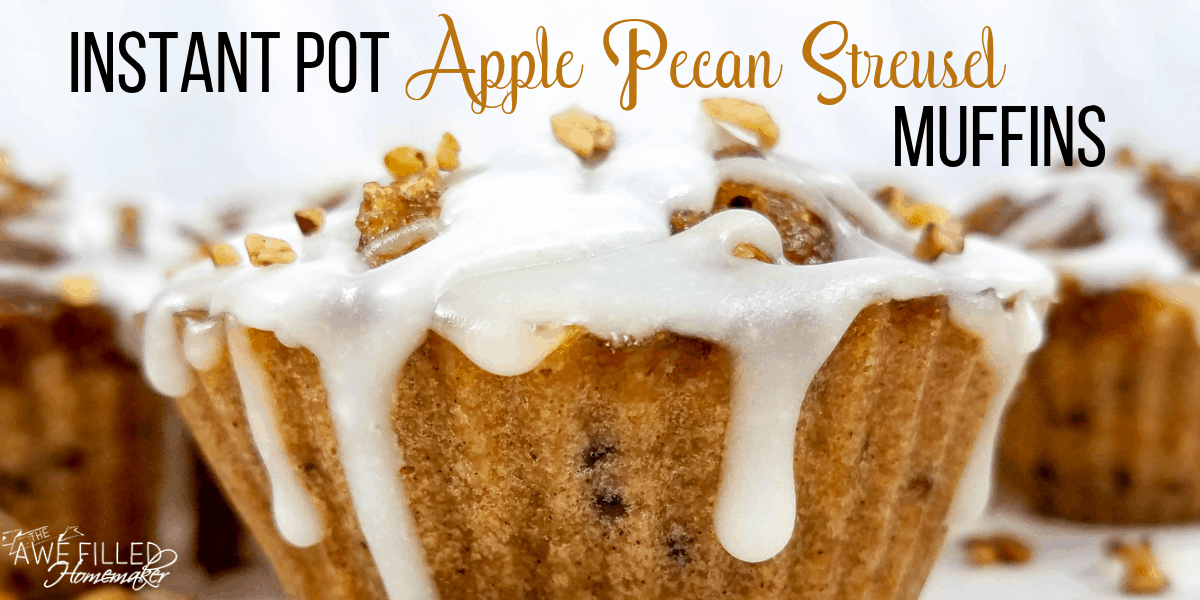 Instant Pot Apple Pecan Streusel Muffins
