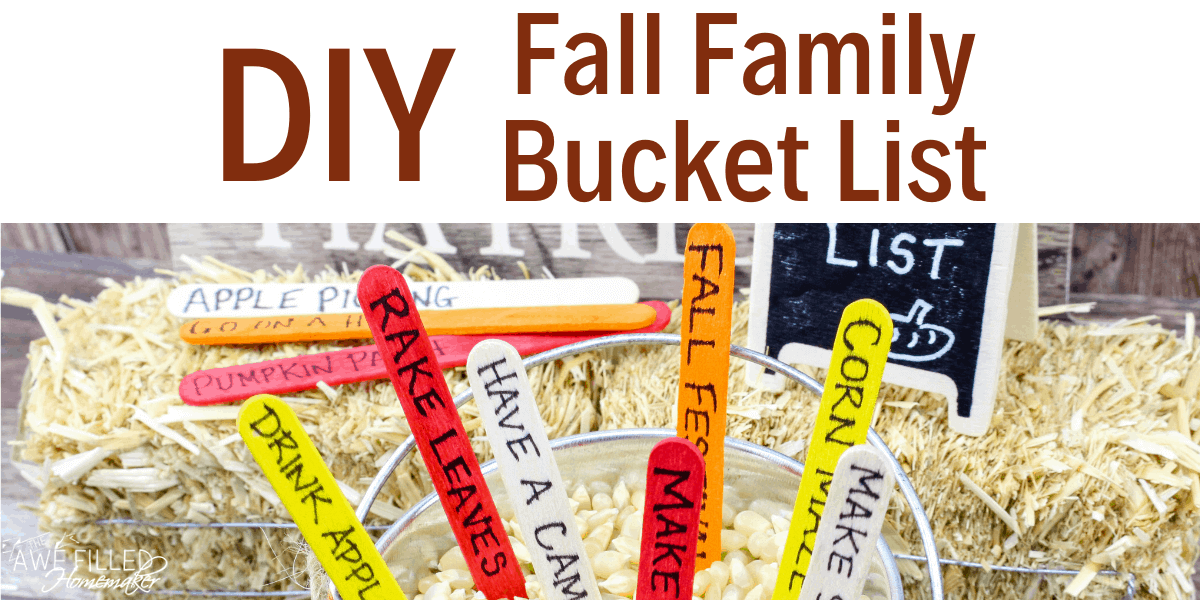 DIY Fall Family Bucket List