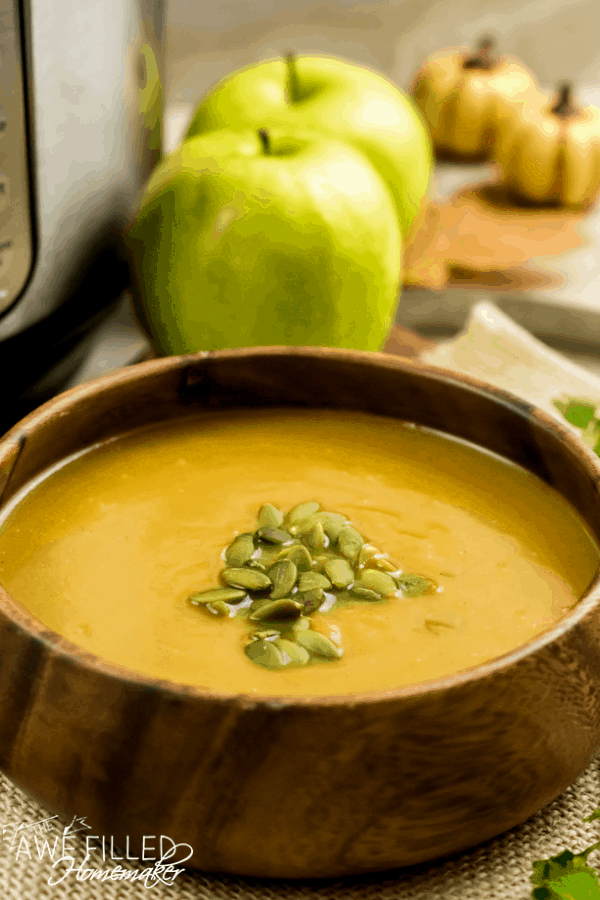 Instant Pot Apple & Butternut Squash Soup