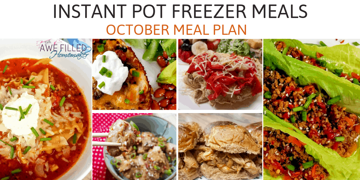 Instant Pot Freezer Meals {October Meal Plan}
