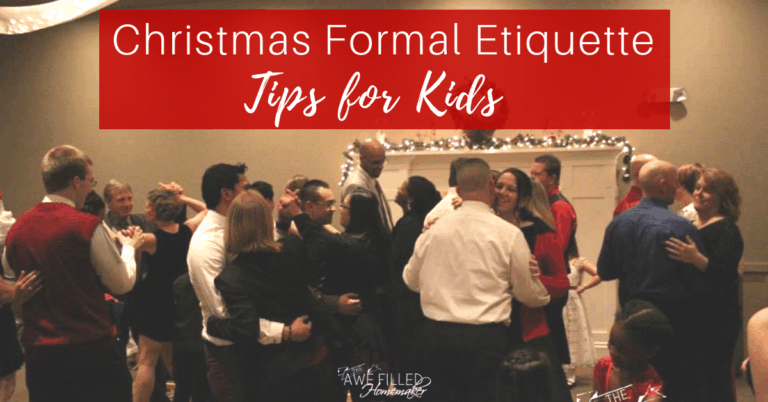 Christmas Formal Etiquette Tips For Kids
