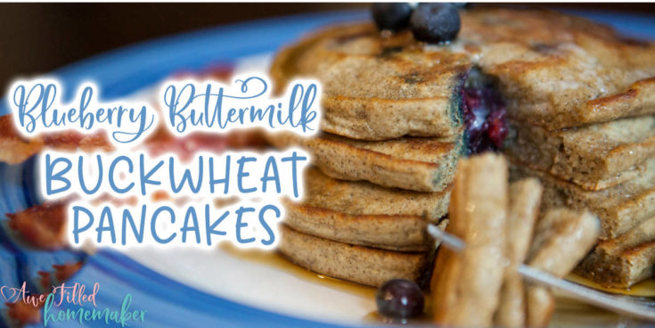 Blueberry Buttermilk Buckwheat Pancakes