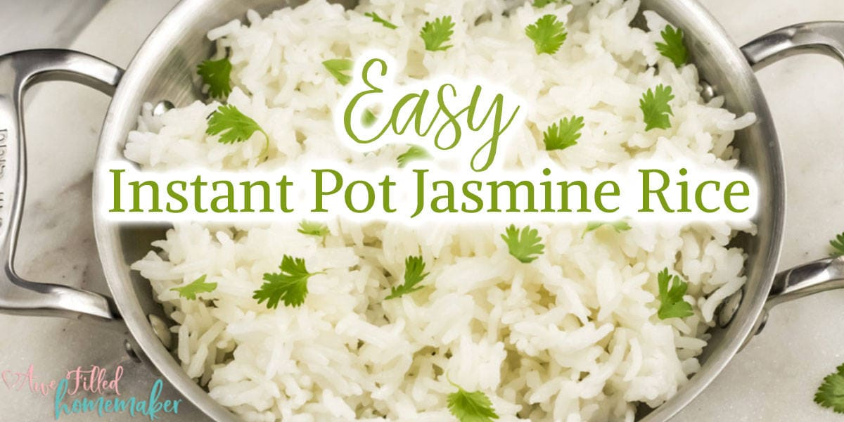 Easy Instant Pot Jasmine Rice