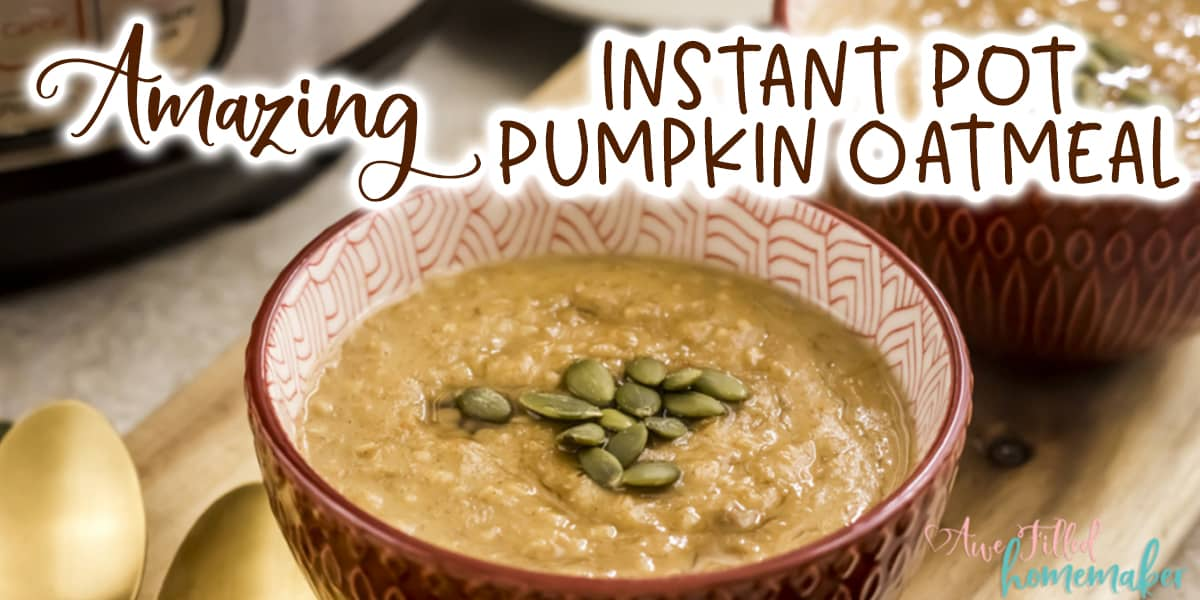 Amazing Instant Pot Pumpkin Oatmeal
