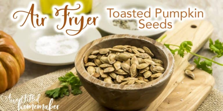 Air Fryer Toasted Pumpkin Seeds
